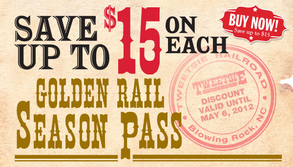 Save $15 or each Golden Rail Season Pass