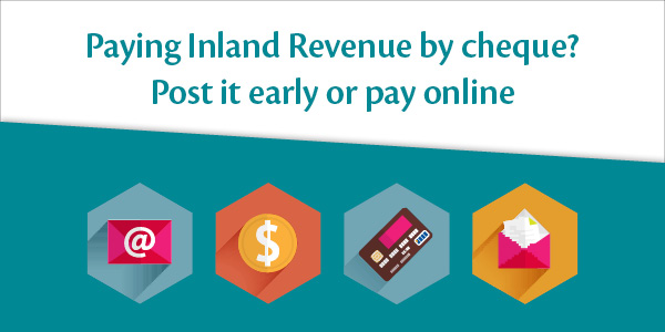 Pay Inland Revenue by Cheque