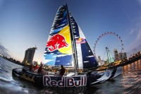 Red Bull Extreme Sailing Team on Day 1 at Singapore